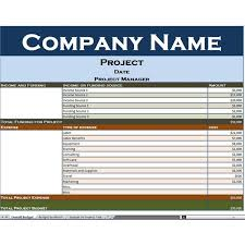 overall project budget template