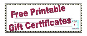 Custom Gift Certificate Templates Free Custom Gift Certificates With These Free Printables Make