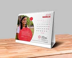 Photo Calander Table Calendar 2018 Monthly Desk Calendar 2018 Table Top Calendar 2018 Desktop Calendar