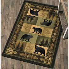 Moose Kitchen Decor Rustic Wildlife Rugs Including Moose And Bear Rugs Black Forest