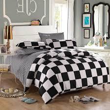 black white checked bedding