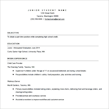 High School Resume Template Download Letter Resume Collection