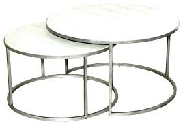 silver coffee table round round silver side table