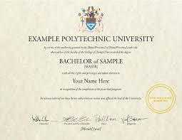 Sample Degree Certificates Of Universities College Diploma