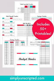 Budgeting Tools 2020 Simply Unscripted Simply Unscripted