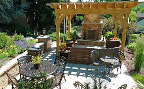paver patio with pergola. Lehigh Valley Outdoor Fireplace Patio Landscape Paver With Pergola