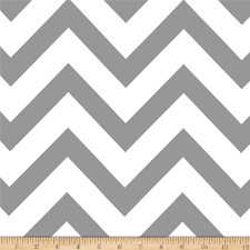 Mi Amor Duchess Satin Chevron Medium Grey/White - Discount Designer Fabric  - Fabric.com