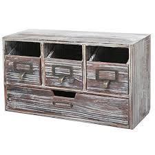 rustic office desks. rustic brown torched wood finish desktop office organizer drawers craft supplies storage cabinet desks