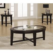 ... Coffee Table, Latest Black Oval Modern Glass Top Coffee Table Set  Design: Marvellous Coffee ...