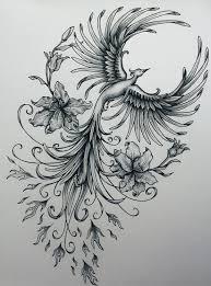 Drawings Of Phoenix Rising Phoenix Tattoo Sketch Tattoo Ideas