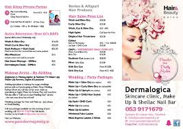 Powder Me Pretty Salon ~ Price List