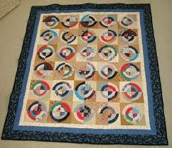 Antique Circle Memorial quilt. Made from the clothing of the ... & Antique Circle Memorial quilt. Made from the clothing of the deceased for a  much treasured Adamdwight.com