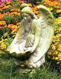 angel statue for garden angel statue for garden compassionate angel garden statue stands ready to provide food or water for