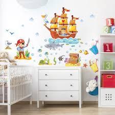 Amazing Produktfoto Wandtattoo Kinderzimmer Piraten Set