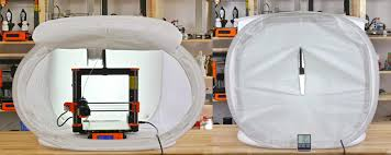 of printing inside a room with the ambient temp of 26 c that s a significant improvement and as a bonus you have a photo tent for your prints