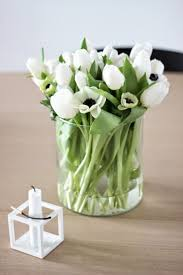 weekend flowers, white tulips and french anemones.