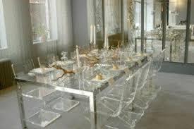 Clear acrylic dining table