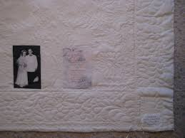 Wedding Dress Quilts! - Quilt With Us & Why keep that old wedding dress in the closet when you can have a quilt or  wall hanging that will remind you of your wedding! Adamdwight.com