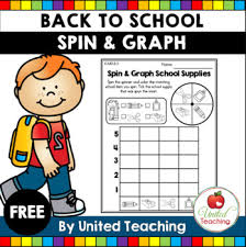 Back To School Activity Spin And Graph Free