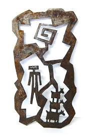 wall arts southwestern wall art primitive metal sculpture rusty steel indoor outdoor tucson