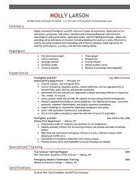 Firefighter Resume Examples | Emergency Services Sample Resumes | LiveCareer
