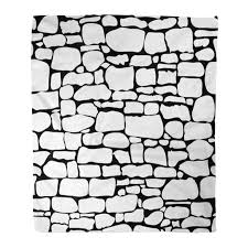 POGLIP Throw Blanket Warm Cozy <b>Print</b> Flannel Brown Pattern ...