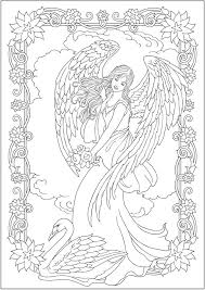 A funny angel of christmas. Creative Haven Elegant Angels Coloring Book By Marty Noble Welcome To Dover Publications Coloring Pag Angel Coloring Pages Fairy Coloring Pages Coloring Pages