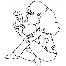 Disegno Di Ragazza Al Trucco Da Colorare Per Bambini