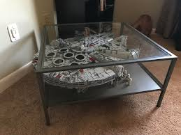 lego set buildfor reference ucs falcon is slightly too large to be cat proofed by the ikea sammanhang