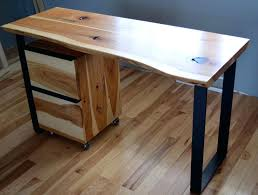 custom made rustic hickory and steel desk with a natural edge awesome custom made rustic hickory