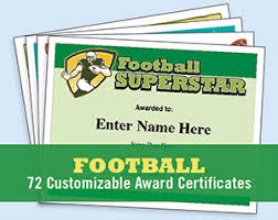 Football Certificate Templates Youth Award Printables