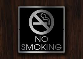 No Smoking Signage No Smoking Sign Modern No Smoking Sign Custom No Smoking Etsy