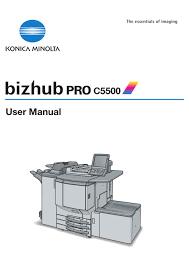 Konica minolta bizhub 20 driver & software. Konica Minolta Bizhub Pro C5500 User Manual Pdf Download Manualslib