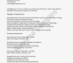 Sample Resume Of Manual Tester Templates Amazing Qa Test