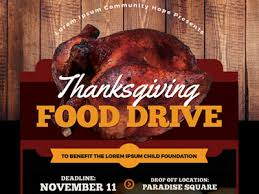 Food Drive Flyers Templates Thanksgiving Food Drive Flyer Templates By Kinzi Wij On Dribbble