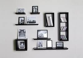 picture of wall floating shelves installation