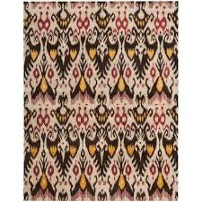 ikat beige brown 8 ft x 10 ft area rug