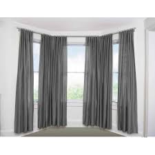 bay window rods with window curtain ideas with double curtain rod brackets