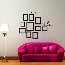 the memories photo frame wall decal