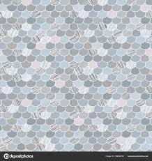 Abstracte Naadloze Patroon Gestileerde Dakshingles Tinten Van Blauw