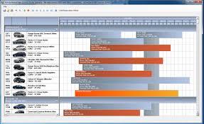 Schedule / Roster - Vehicle Rental / Fleet Control Example