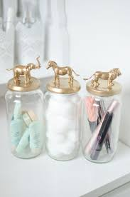 Ways To Decorate Glass Jars DIY Post Gold Animal Jars Storage Jars Jar And Storage 73
