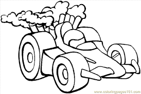 Sports Coloring Pages Car 1 Page Free Winter