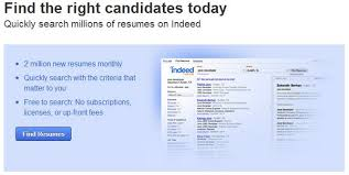 Indeed for Employers is for employers to post a job application and find  resumes.