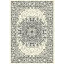 dynamic rugs ancient garden cream grey 8 ft x 11 ft indoor area