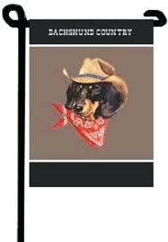 dachshund black tan country dog garden flag holiday flags