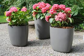 image of modern flower pots planters plastic