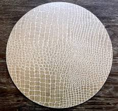 beautiful round placemats faux leather with hardwood table