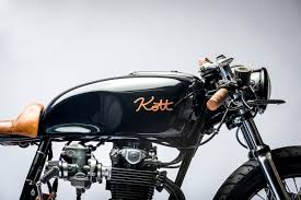 black and copper 550 custom built motorcycle