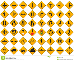 blank road signs test.  Test Download Warning Traffic Signs Vector Set Stock  Illustration Of  Transportation Right 36374713 To Blank Road Test R